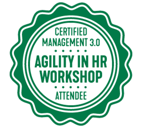 Certificate of Attendance Agility in HR Workshop