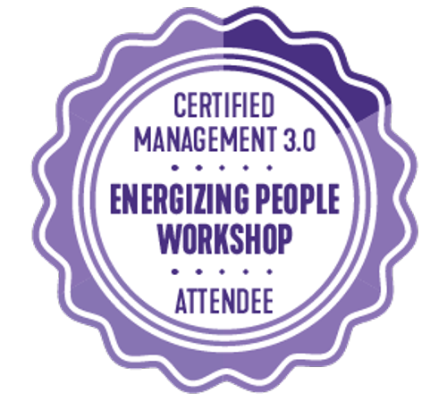 Certificate of Attendance Energizing People Workshop